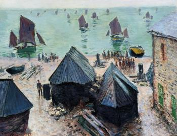 Claude Oscar Monet : The Departure of the Boats, Etretat