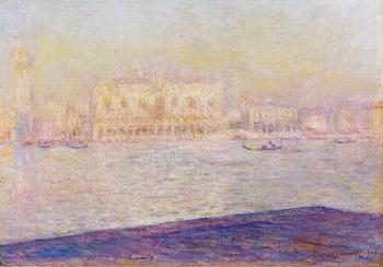 Claude Oscar Monet : The Doges' Palace Seen from San Giorgio Maggiore II