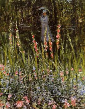 Claude Oscar Monet : The Garden, Gladioli