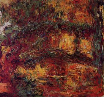 Claude Oscar Monet : The Japanese Bridge X