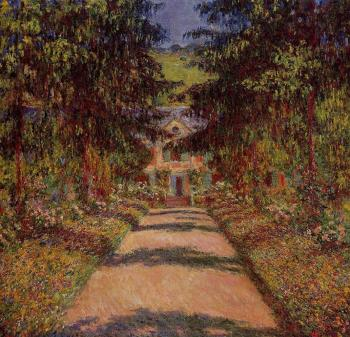 Claude Oscar Monet : The Main Path at Giverny