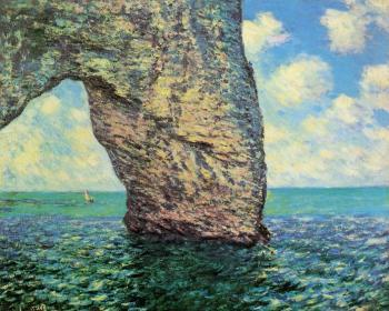 Claude Oscar Monet : The Manneport at High Tide