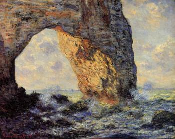 Claude Oscar Monet : The Manneport, Etretat