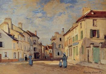 Claude Oscar Monet : The Old Rue de la Chaussee, Argenteuil