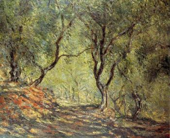 Claude Oscar Monet : The Olive Tree Wood in the Moreno Garden