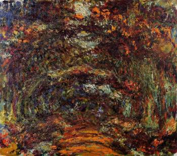 Claude Oscar Monet : The Path under the Rose Arches, Giverny