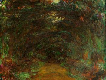Claude Oscar Monet : The Path under the Rose Trellises, Giverny