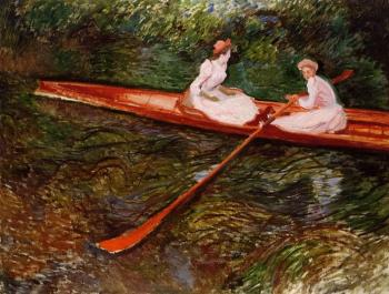 Claude Oscar Monet : The Pink Skiff