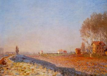 Claude Oscar Monet : The Plain of Colombes, White Frost