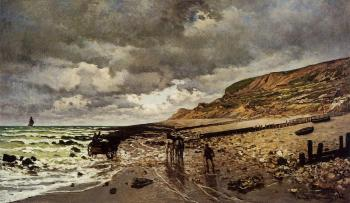 Claude Oscar Monet : The Point de la Heve at Low Tide