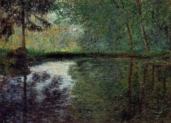 Claude Oscar Monet : The Pond at Montgeron