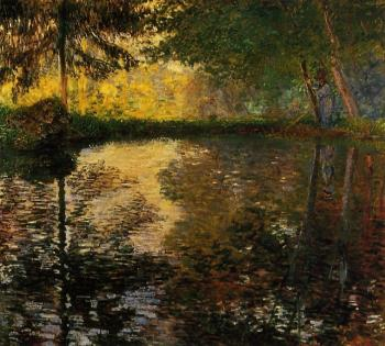 Claude Oscar Monet : The Pond at Montgeron II