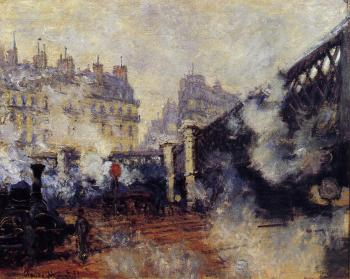 Claude Oscar Monet : The Pont de l'Europe, Saint-Lazare Station