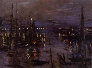 Claude Oscar Monet : The Port of Le Havre, Night Effect