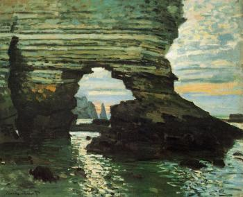 Claude Oscar Monet : The Porte d'Amont, Etretat