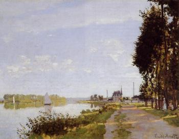 Claude Oscar Monet : The Promenade at Argenteuil