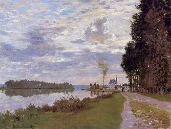 Claude Oscar Monet : The Promenade at Argenteuil II