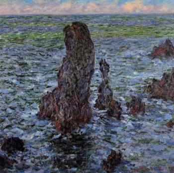 Claude Oscar Monet : The 'Pyramids' at Port-Coton