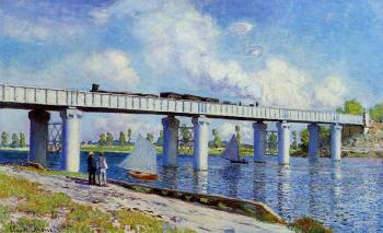Claude Oscar Monet : The Railroad Bridge at Argenteuil