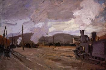 Claude Oscar Monet : The Railroad Station at Argenteuil