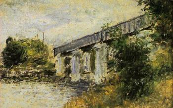 Claude Oscar Monet : The Railway Bridge at Argenteuil II