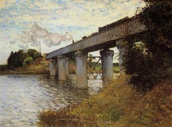 Claude Oscar Monet : The Railway Bridge at Argenteuil III