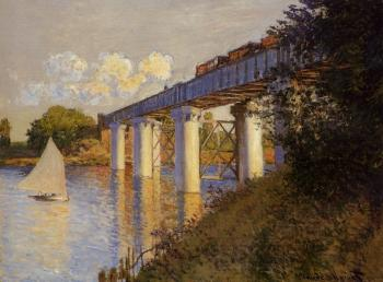 Claude Oscar Monet : The Railway Bridge at Argenteuil IV