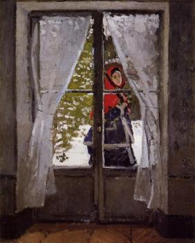 Claude Oscar Monet : The Red Kerchief, Portrait of Madame Monet