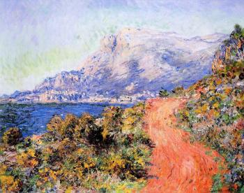 Claude Oscar Monet : The Red Road near Menton