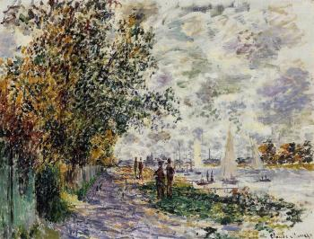 Claude Oscar Monet : The Riverbank at Petit-Gennevilliers