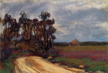 Claude Oscar Monet : The Road and the House