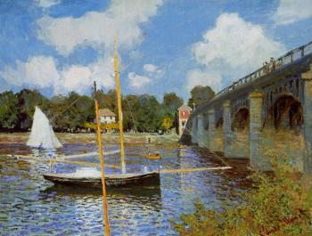 Claude Oscar Monet : The Road Bridge at Argenteuil