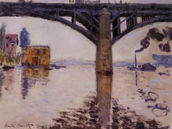 Claude Oscar Monet : The Road Bridge at Argenteuil II