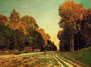 Claude Oscar Monet : The Road from Chailly to Fontainebleau