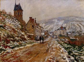 Claude Oscar Monet : The Road in Vetheuil in Winter