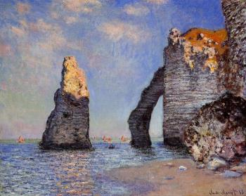 Claude Oscar Monet : The Rock Needle and the Porte d'Aval