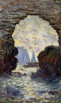 Claude Oscar Monet : The Rock Needle Seen through the Porte d'Aumont
