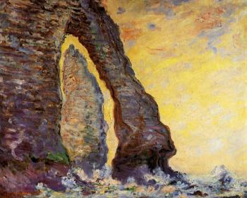 Claude Oscar Monet : The Rock Needle Seen through the Porte d'Aval