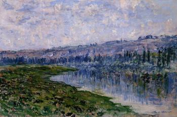 Claude Oscar Monet : The Seine and the Chaantemesle Hills