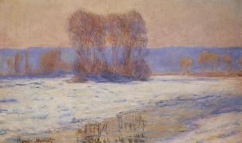 Claude Oscar Monet : The Seine at Bennecourt in Winter