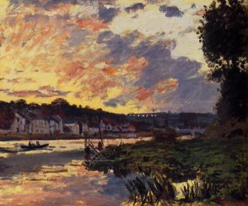 Claude Oscar Monet : The Seine at Bougeval, Evening