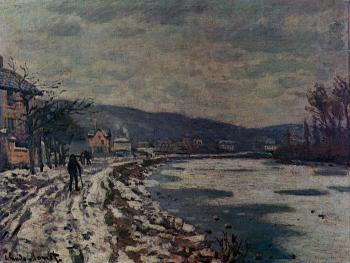 Claude Oscar Monet : The Seine at Bougival II