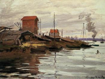 Claude Oscar Monet : The Seine at Le Petit-Gennevilliers