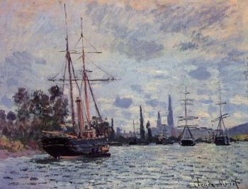 Claude Oscar Monet : The Seine at Rouen III