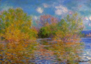 Claude Oscar Monet : The Seine near Giverny II