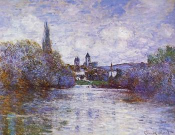 Claude Oscar Monet : The Small Arm of the Seine at Vetheuil