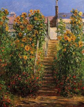 Claude Oscar Monet : The Steps at Vetheuil II