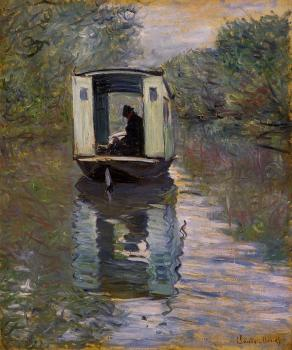 Claude Oscar Monet : The Studio Boat III