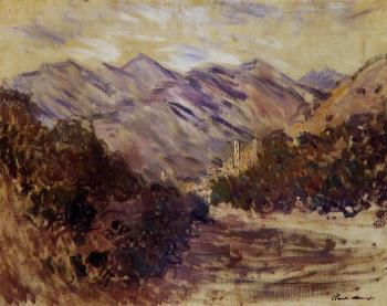 Claude Oscar Monet : The Valley of the Nervia with Dolceacqua