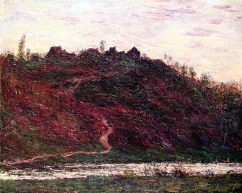 Claude Oscar Monet : The Village of La Coche-Blond, Evening
